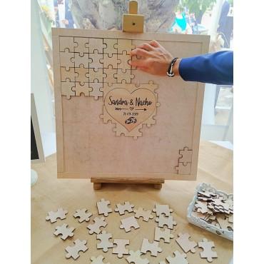 Puzzle para firmas boda