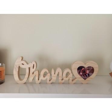 Letrero Ohana con foto