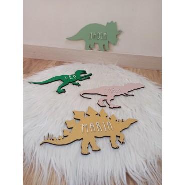Silueta dinosaurios con nombre