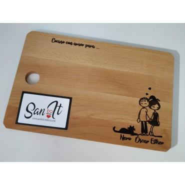 Tabla corte madera pequeña...